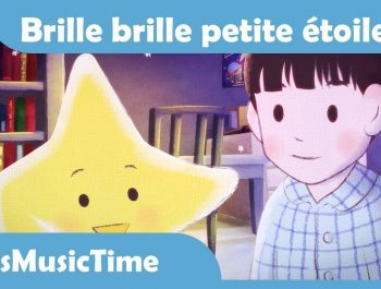 Twinkle Twinkle Little Star in French (Brille brille petite étoile) | Comptines |  KidsMusicTime
