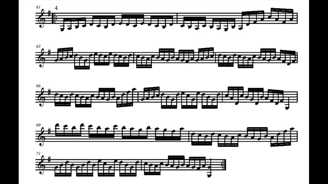 Violin Sheet Music – 12 variations on Twinkle Twinkle Little Star