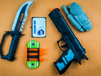 Learn colors with colored toy guns for kids   Police Gun Set   Twinkle Twinkle Little Star Kids Song