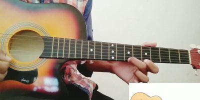 """Twinkle Twinkle Little Star rhymes on single string""""e""""guitar tutorial."""