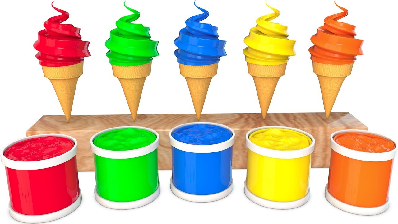 Learn Colors Cream And Learn Sports ball With Water Sliders for Kids Cartoon Songs For Children