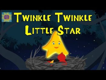 Twinkle Twinkle Little Star In Chinese  | Chinese Nursery Rhyme | 一闪一闪小星星