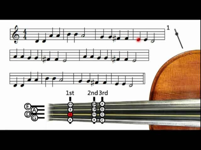 Twinkle Twinkle Little Star (metronome only) – Violin tutorial