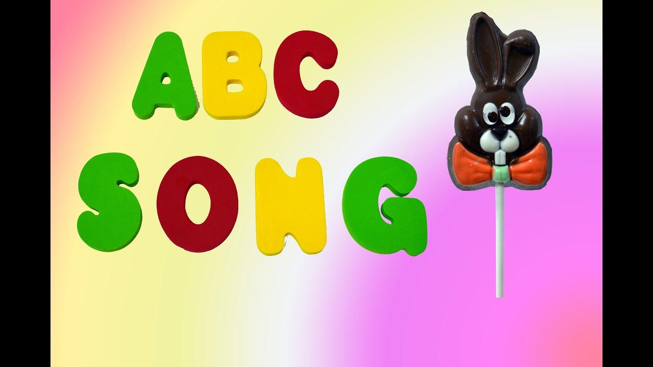 ABC Song for Kids Chockolade Easter Bunny Funny | Английский алфавит шоколадный заяц