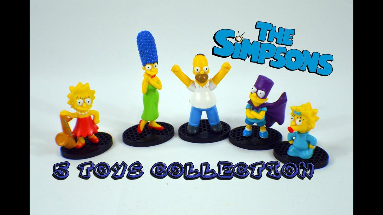 5 Simpsons Toys Figure Collection  Коллекция из 5 Симпсонов Bambuc TV
