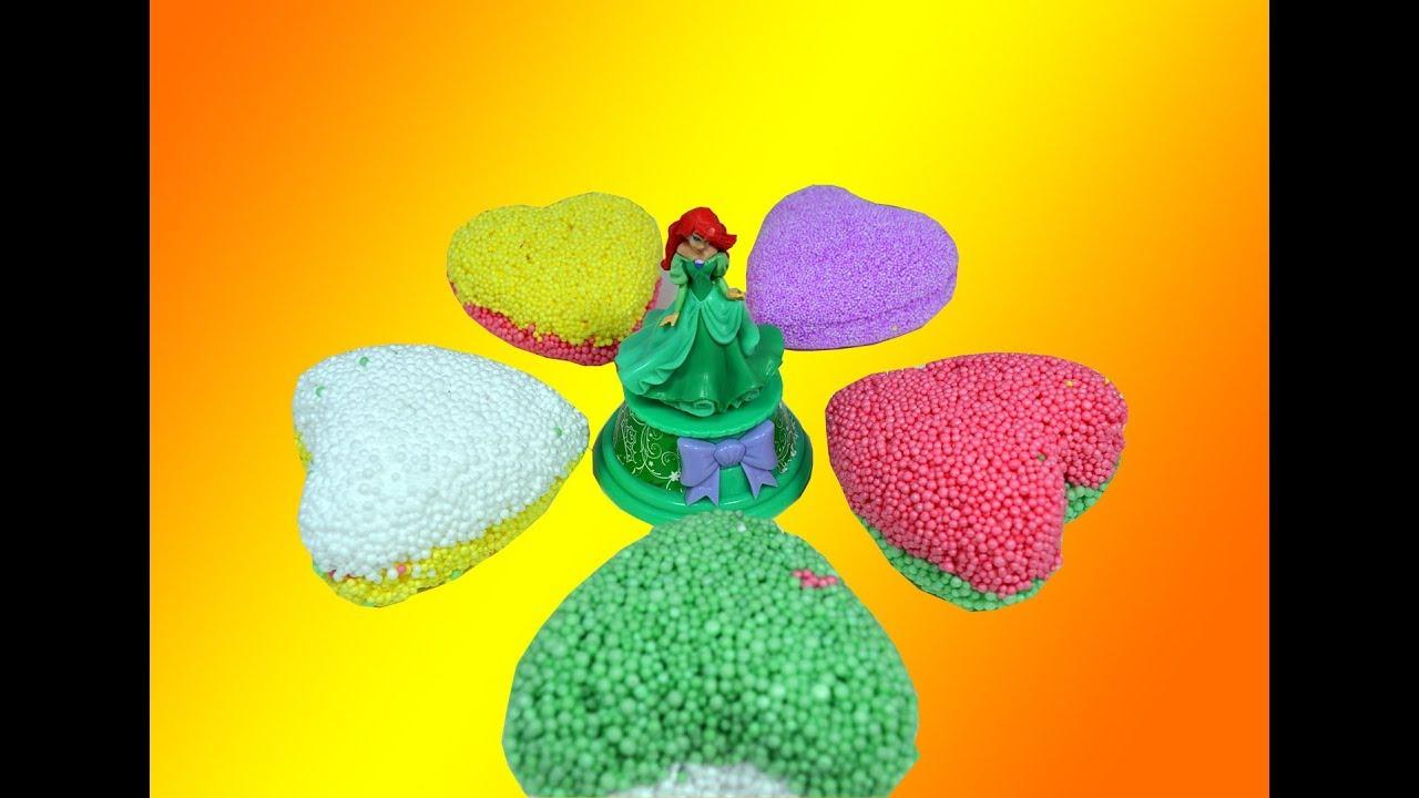 Learn Colors LOL Surprise Doll Play Foam PlayDoh Disney Dorables Hatchimals Eggs