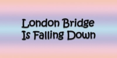 London Bridge Is Falling Down | Nursery Rhymes for Baby Bambuc TV