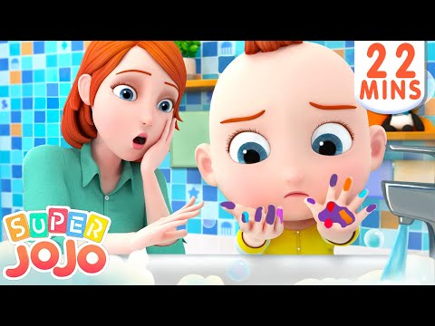 Wash Your Hands Song | Healthy Habits For Kids + More Nursery Rhymes & Kids Songs – Super JoJo