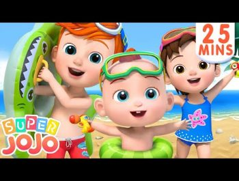 Beach Song | Fun Day at the Beach + More Nursery Rhymes & Kids Songs – Super JoJo