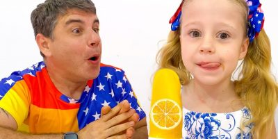 Nastya and dad – stories about ice cream and sweets