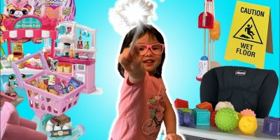 Cutesy Wootsy Pretend Play with a Magic Cleaning Wand