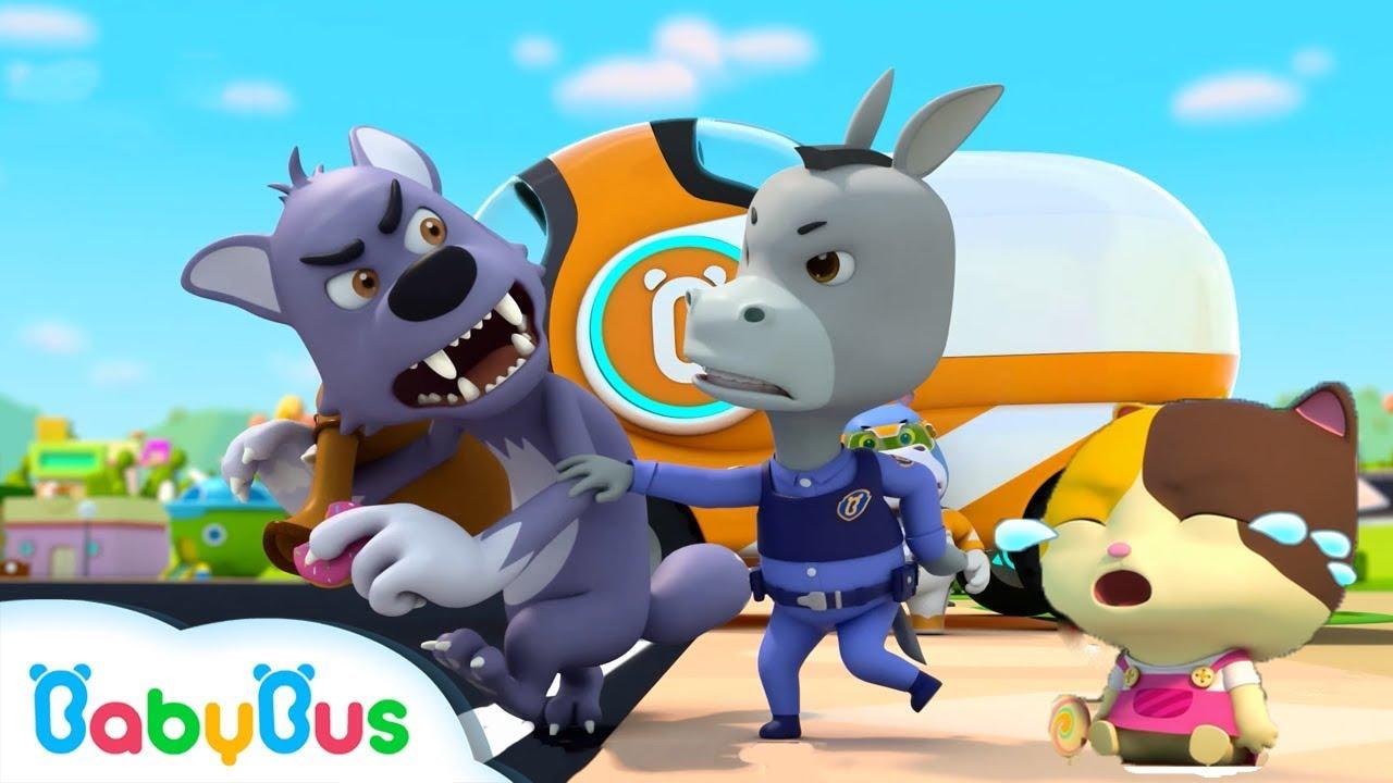 Super Policeman Catches Bad Wolf   Police Cartoon, Police Car   Nursery Rhymes   Baby Songs  BabyBus