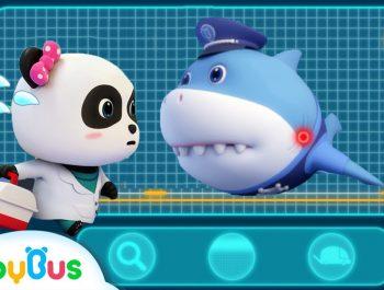 *NEW* Super Panda Rescues Police Shark | Super Rescue Team 8 | Baby Shark | Panda Cartoon | BabyBus