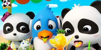 Baby Panda's Dinosaur Shaped Juice | Wonderful Fruit Juice Van | Nursery Rhymes| Kids Songs |BabyBus