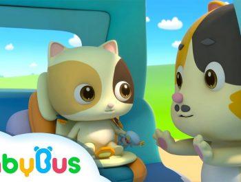 Baby Kitten Unties Seat Belt | Play Safe Song | Nursery Rhymes | Baby Songs | BabyBus