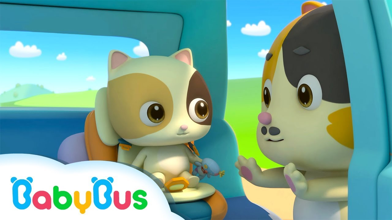 Baby Kitten Unties Seat Belt | Play Safe Song | Nursery Rhymes | Baby Songs | BabyBus