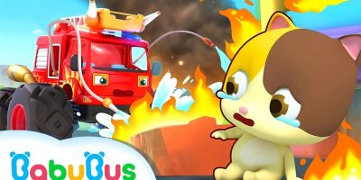 Super Fire Truck Rescues City   Fire Safety   Vehicles for Children   Nursery Rhymes   BabyBus