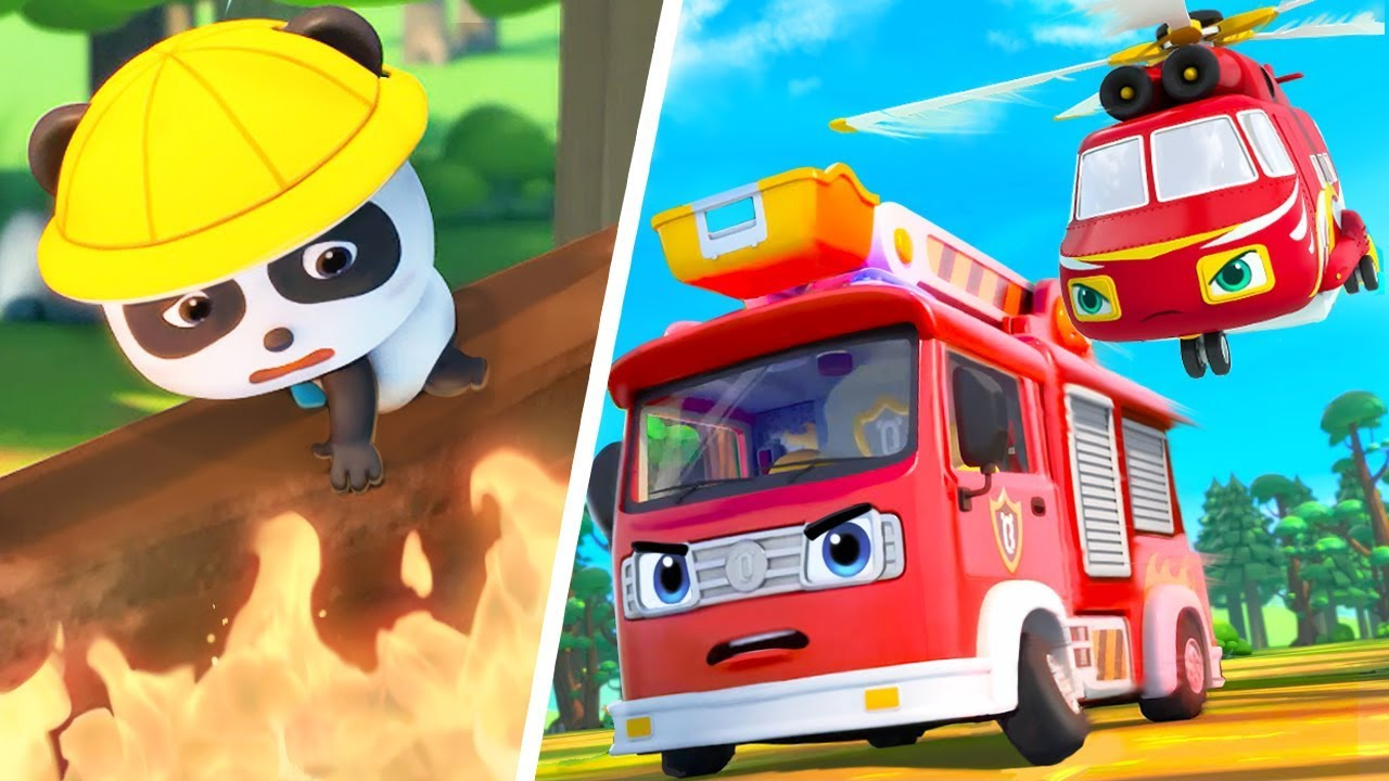 Super Firefighter Rescue Team   Police Car, Ambulance   Nursery Rhymes   Kids Songs   BabyBus