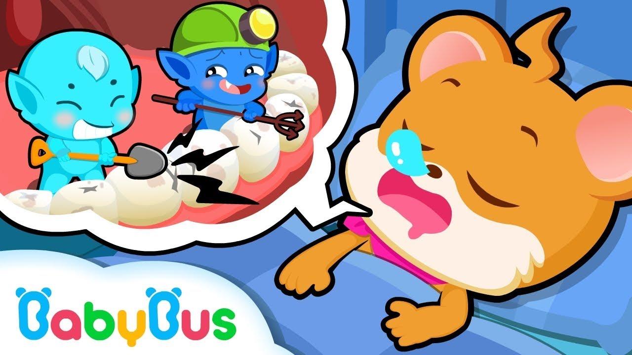 Whiskers Doesn't Like Brushing Teeth   Good Habits   BabyBus Cartoon