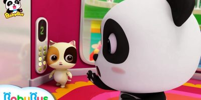 Baby Kitten, Be Careful in the Elevator   Kitten's Supermarket Shopping    Kids Safety Tips  BabyBus