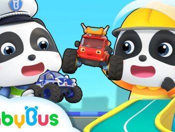 Baby Panda and Super Monster Cars   Super Rescue Team   Super Train, Policeman,Fire Truck   BabyBus