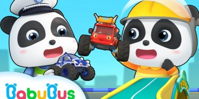 Baby Panda and Super Monster Cars | Super Rescue Team | Super Train, Policeman,Fire Truck | BabyBus