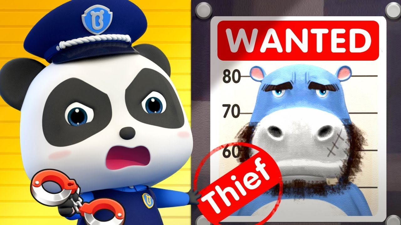 Baby Panda Police Catches Thief | Kids Cartoon | Baby Cartoon | Baby Videos | Police Cartoon|BabyBus