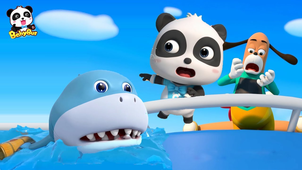 Baby Shark's Chasing Baby Panda   Super Panda Rescue Team   Kids Pretend Play   BabyBus Song