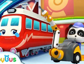 Little Panda Rescues Super Train | Thomas Train | Nursery Rhyme | Baby Songs | BabyBus