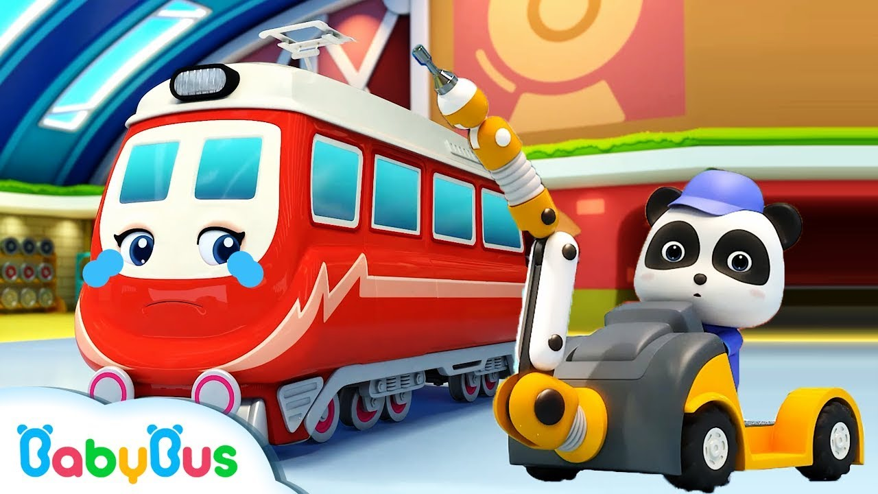 Little Panda Rescues Super Train | Thomas Train | Nursery Rhyme | Baby Songs | BabyBus