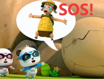 Super Panda's Chased by a Big Rock | Super Panda Rescue Team | Kids Song | BabyBus Cartoon