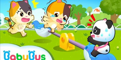 Baby Kitten, Don't Stand On The Seesaw | Baby Kitten Family | Kids Safety Tips | BabyBus