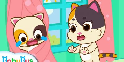 Baby Kitten's Trapped in Curtains | Play Safe Song | Home Safety Tips | Nursery Rhymes | BabyBus