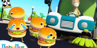 Run Away, Hamburgers!  | Ice Cream, Cake Song | Learn Colors | Kids Pretend Play | BabyBus