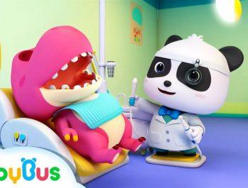 Doctor Panda Cures Baby Dinosaur's Toothache   Doctor Cartoon   Kids Songs   BabyBus