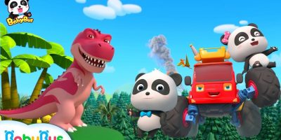 Baby Panda's Dinosaur World Trip | Dinosaur Song | T-Rex | Nursery Rhymes | Kids Songs | BabyBus
