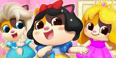 Five Little Princesses | Colors Song, Bath Song | Nursery Rhymes | Kids Songs| Kids Cartoon |BabyBus
