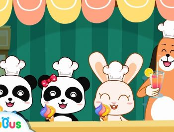Baby Panda's Smoothie Truck | Make Colorful Ice Creams | BabyBus Cartoon