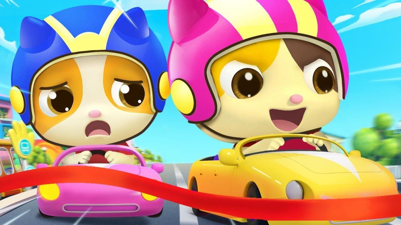 Little Car & Balloon Boat Race | Nursery Rhymes | Kids Cartoon | BabyBus