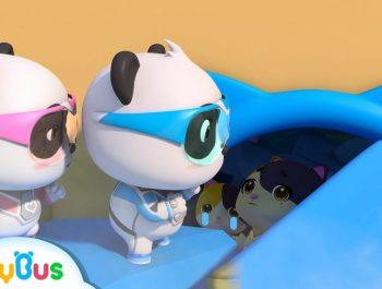 Rescue Baby Kitten From the Earthquake   Nursery Rhymes   Baby Songs   Panda Cartoon   BabyBus
