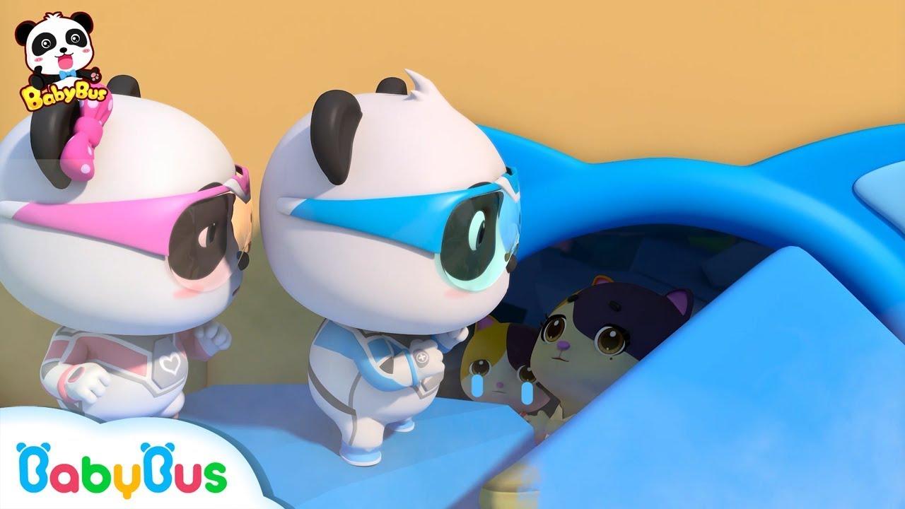 Rescue Baby Kitten From the Earthquake | Nursery Rhymes | Baby Songs | Panda Cartoon | BabyBus
