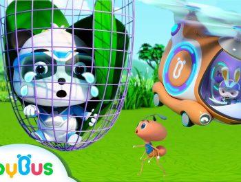 Help! Baby Panda's Trapped in the Net   Super Panda Rescue Team   Panda Cartoon   BabyBus