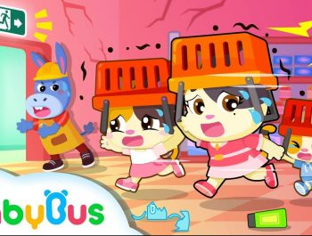 Run! Earthquake Happens in Supermarket | Kids Safety Tips |  Baby Kitten Family | Kids Song| BabyBus