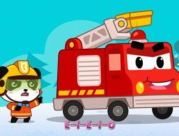 Panda Kiki, Brave Fireman   Fire Truck's New Mission   Christmas Song   BabyBus