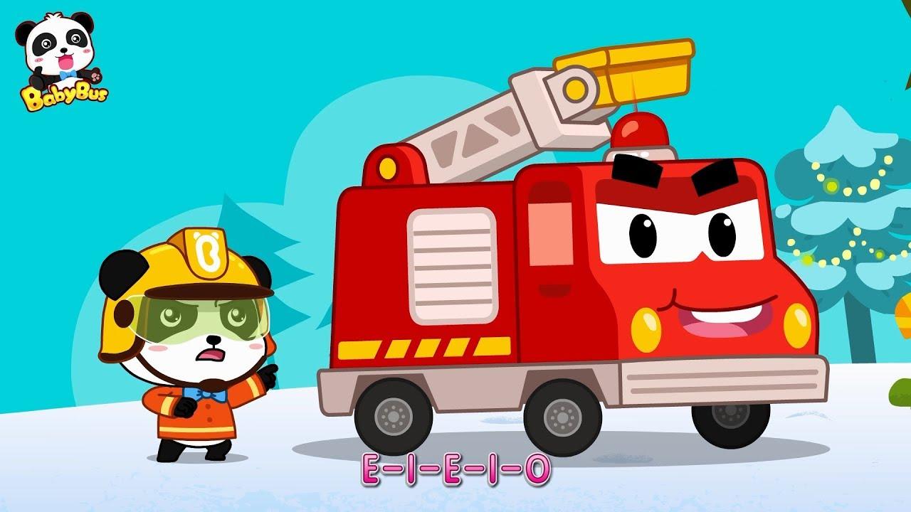 Panda Kiki, Brave Fireman | Fire Truck's New Mission | Christmas Song | BabyBus