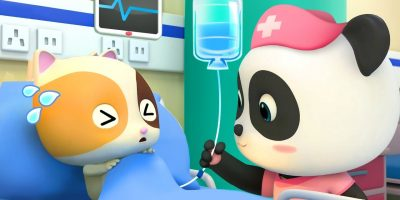 Baby Kitten Has a Fever | Baby Panda Nurse | Pretend Play with Doctor Toys | Kids Song | BabyBus