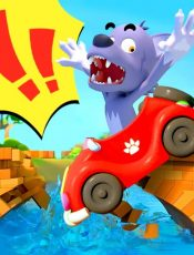 Big Bad Wolf Fell From Bridge   Monster Truck   Cars for Kids   Kids Songs   BabyBus