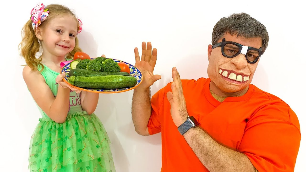 Stacy prepares healthy food for dad