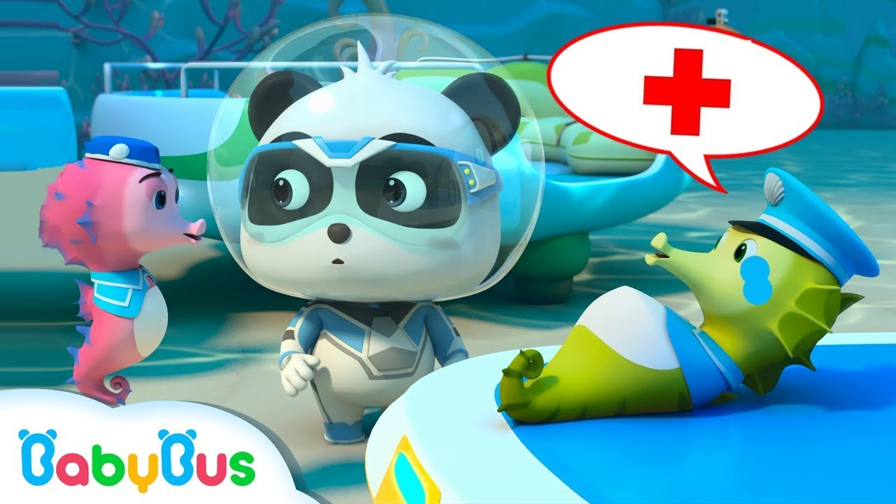 *NEW* Super Panda Rescues Daddy Seahorse | Super Rescue Team 9 | Panda Cartoon | BabyBus