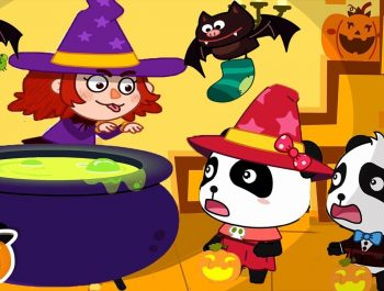 Scary Witch's Magical Pot | Spooky Halloween Party | Halloween Songs | Halloween Cartoon | BabyBus
